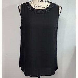 Talbots women's black sleeveless blouse